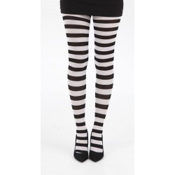 Striped Tights-Black/White